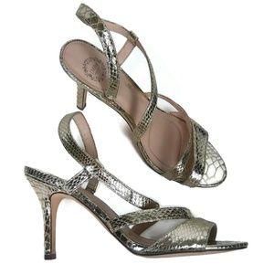 f3e1c49f2 Womens I. Miller Gold Strappy Sandal Sz 8.5 M